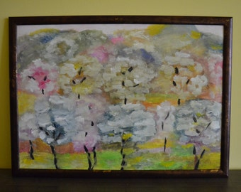 """Spring Inspiration"""""""" ,oil ,paper work ,39/53,painting"""