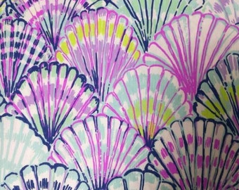 OH SHELLO Lilly Pulitzer Fabric 18x18 or 1 yard Spring 2017