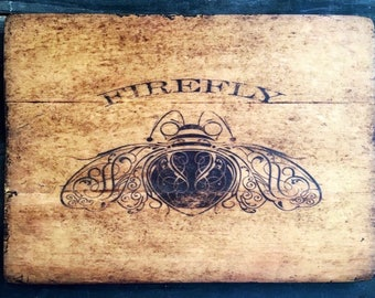 SAMPLE SALE: Firefly Antiqued Wooden Sign