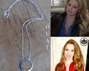 Emma Swan Necklace, OUAT Necklace, Silver Infinity Circle Necklace, Cosplay Necklace, Emma Swan Circle Necklace, Valentine's Gift, Gift Idea