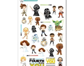 Star Wars Stickers - Disney Planner Stickers