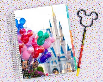 Disney World Erin Condren Life Planner Cover INSTANT DOWNLOAD - Balloons on Main Street 2