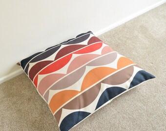 "Wavy/Retro/Scandinavian Multi Coloured Floor Cushion/Pillow Cover 26 x 26"""