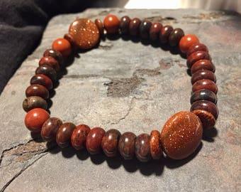 Jasper & Goldstone Stretch Bracelet