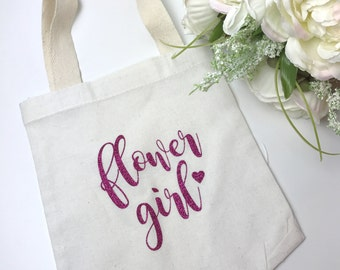 Flower Girl Tote Bag Gift Bridal Party Child