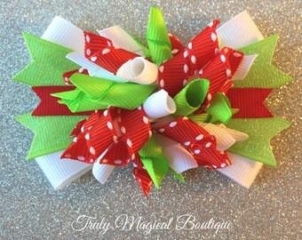 Christmas Hair Bow | Holiday Hair Bow | Christmas Hair Bows | Christmas Hair Clip | Holiday Hair Bows | Christmas Korker Bow | Christmas Bow