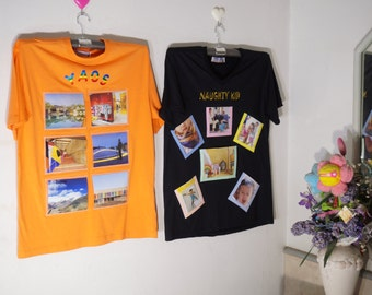 Photo Frame on T-Shirt(Orange Color)-New Trend Wall Decorate-Idea for Home Decor