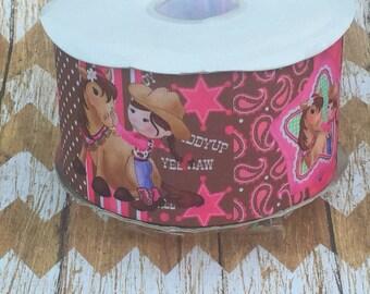 "3"" cowgirl grosgrain ribbon"