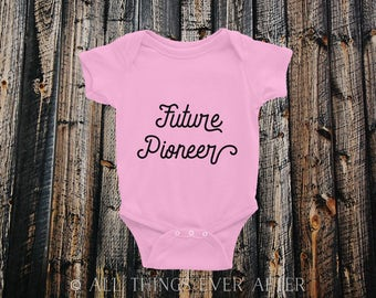 Future PIONEER ONESIE | JW | Jehovah's Witnesses | Baby Shower Gift Present | Newborn Bodysuit Shirt | Pink | Baby Girl