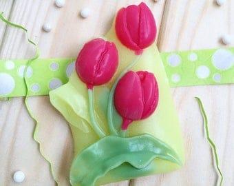Natural Handmade Spring Tulip Flower Soap