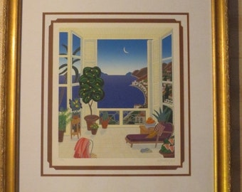 Thomas McKnight Limited Edition Hand Signed Serigraph, Rivera Conservatory, Pencil Signed and Numbered