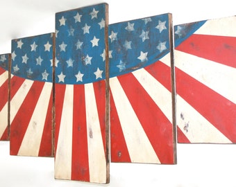 5 Piece Traditional American Flag