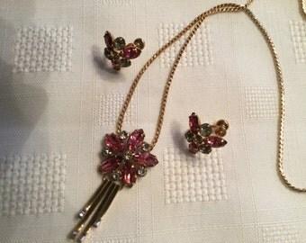 M & S 12 K Gold Filled Jewelry Set   Art Deco Designer Jewelry Set