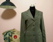 Women Blazer, 1960, Dark Gray Womens Jackets, Bagir Vintage Blazer, Vintage Jacket, Jackets, Gray Jacket For Women 1960s, 60s, Free Shipping