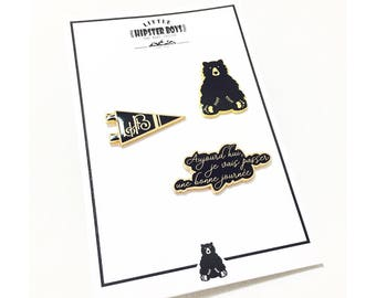 Set of 3 pins LittleHipsterBoys