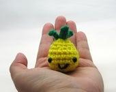 Crochet mini Pineapple, crochet pineapple, amigurumi pineapple, pineapple plush, amigurumi fruit, pineapple lover gift