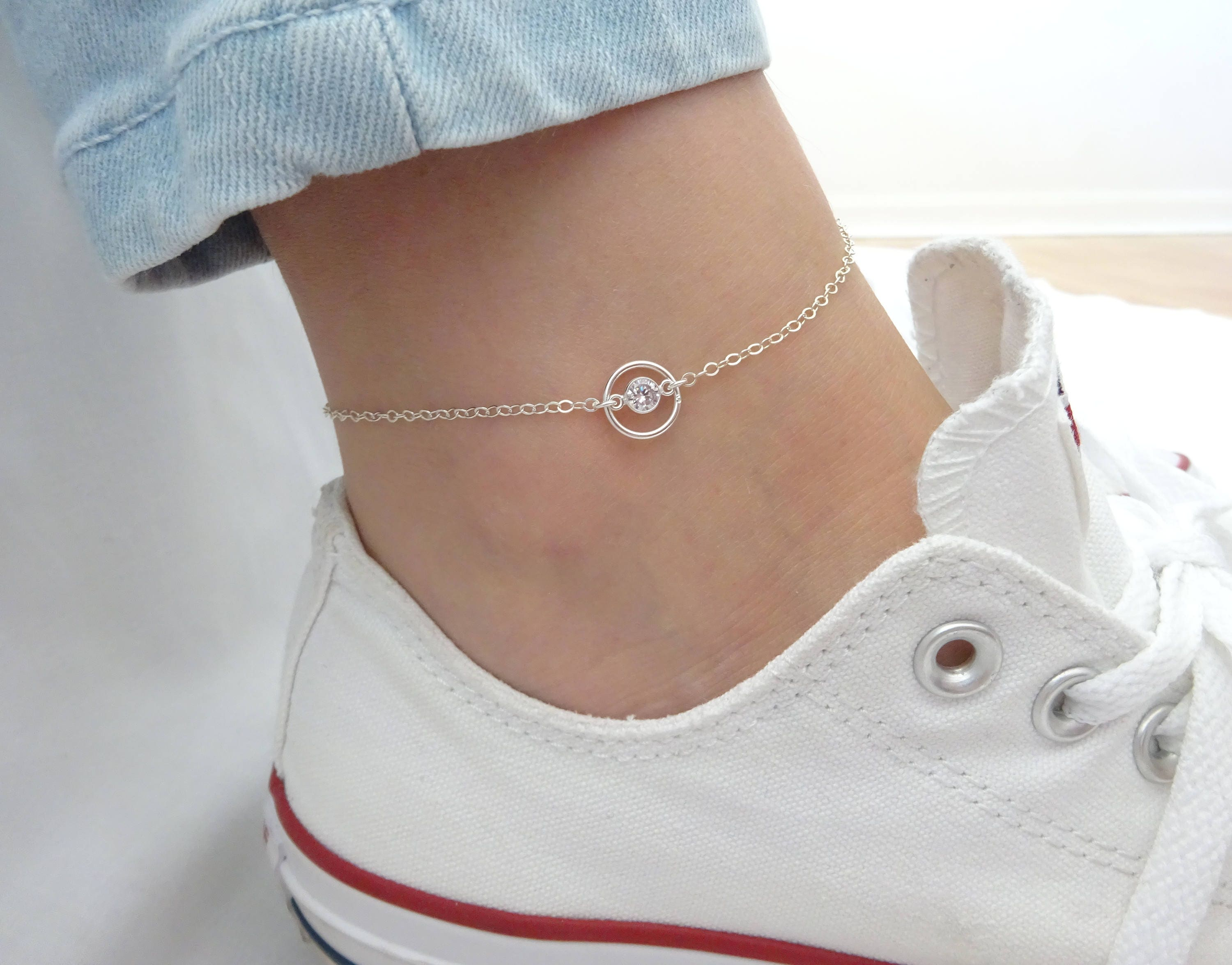 link p yellow mariner gold diamond anklet