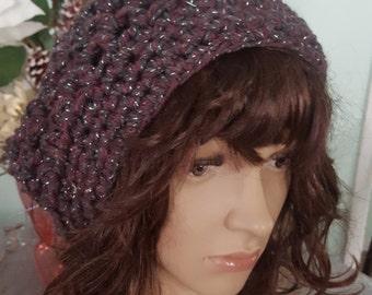 Crochet Woman Hat, Slouchy Hat, Winter Hat, Slouchy Bulky Beanie