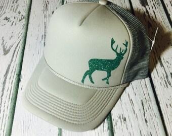 Buck, buck hat, buck trucker hat, hunting hat, hunting fashion, hunting gifts, trucker hat, womens trucker hat