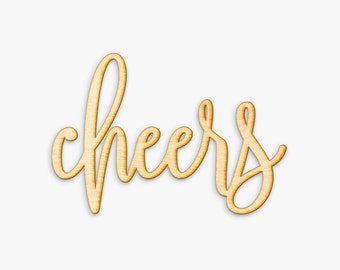 Hand Drawn Home Cheers Sign - Cheers Wood Sign, Wood Gift, Wooden Wedding Gift , Cheers, Bar Decor, Gallery Wall Sign, Housewarming Gift