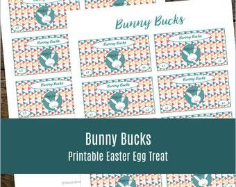 Bunny Bucks Printable Easter Basket Treat and Egg Filler