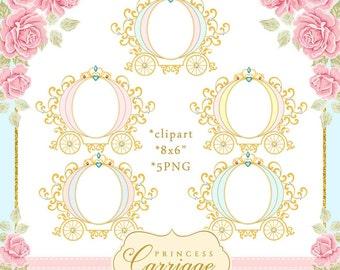 Cinderella clip art | Etsy