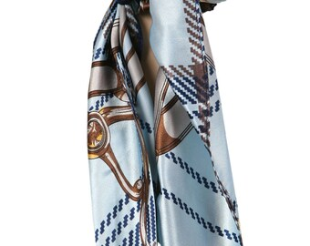 Love Lakeside-Women's Silky Feel, Pre-tied, Fitted Headscarf, Tichel, Chemo Scarf Light Blue