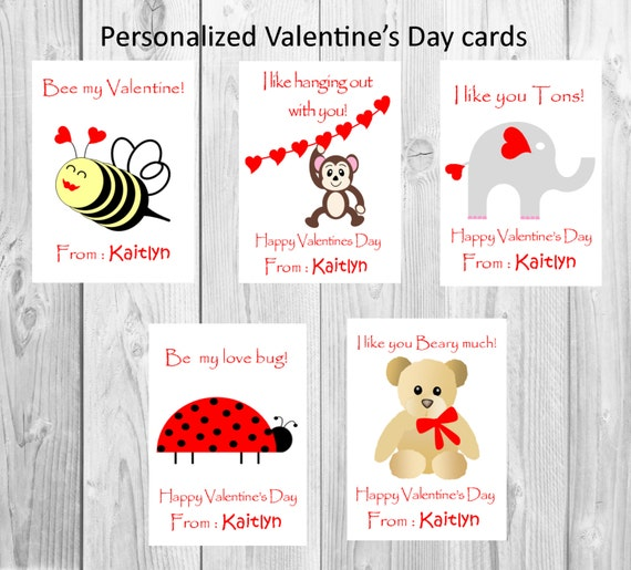 Classroom Valentines Design ~ Kid s valentines cards classroom