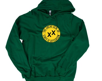 Jefferson Hoodie - Jefferson State Flag - Proposed Pacific State of Jefferson Hoodie