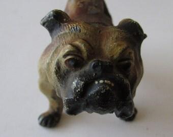 Vintage Cast Bull Dog Statue Figure SOOO00 Cute!