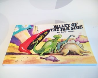 Vintage 1985, 1993 Valley of The Far Side Book by Gary Larson, Collection #5, Sixteenth Printing