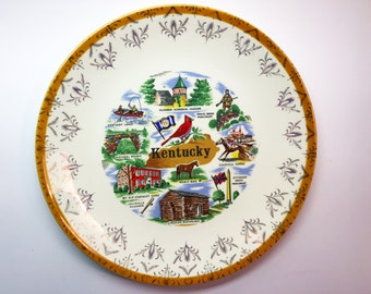 Kentucky Souvenir Dish Kentucky Gifts Vintage Kentucky Wall Art State Plate Souvenir Plate