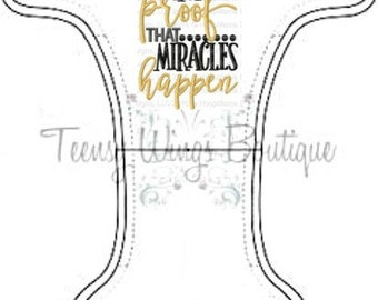 Custom embroidered two layer fleece diaper cover.I'm proof that miracles happencloth diaper cover, cloth,Onesize,newborn,miracle baby diaper