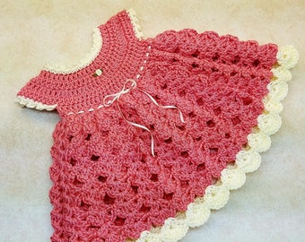 Crochet Strawberry Shortcake Baby Girl Dress 0-6M Pattern DIGITAL DOWNLOAD ONLY