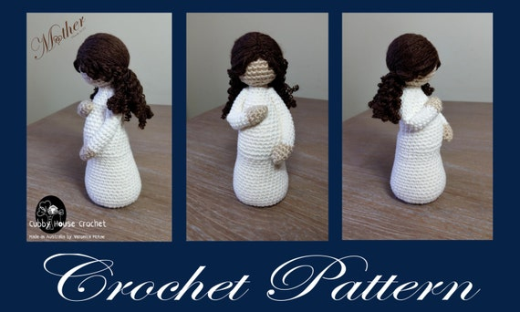 crochet pattern mothertobe eve pregnant mother with baby