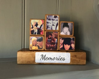 Photo Stacking Blocks / Photo Gift / Photo Blocks / Wooden Photo Block / Keepsake / Gift / Photo / Block / Memories / Photo Gift Ideas /
