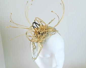 Stunning couture gold and silver headpiece