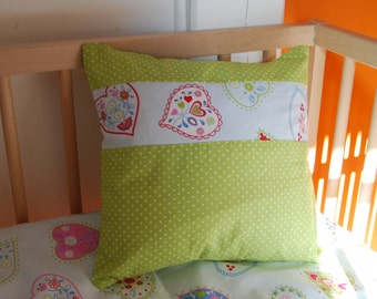 "Square Cushion cover ' hearts ' 32 x 32 cm (12 ""x 12"")"