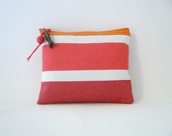 Cover special pool 20 x 17 cm stripes transat (red)