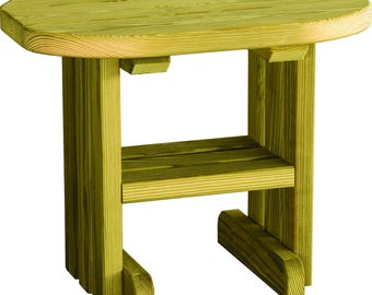Unfinished Pressure Treated Pine Outdoor Side/End Table - Model#LUXET - Amish Made in the USA - Free Shipping!