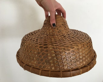 Woven Wicker Lamp Shade - Bamboo Shade - Hanging Shade - LIG-01