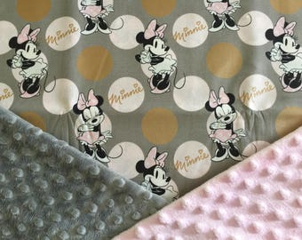 Personalized Minnie Minky Carseat Canopy Carseat Cover Car Seat Canopy- Grey Minnie Mouse & Minnie mouse canopy | Etsy