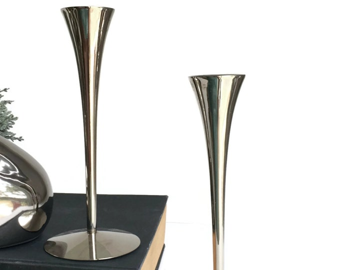 Modern Stainless Steel Candle Holders