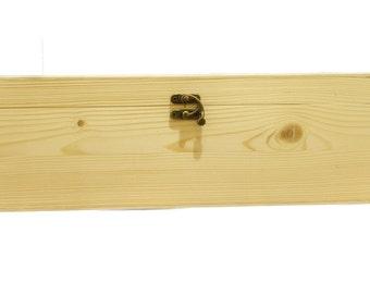 Unfinished wood box 35x25x12 cm