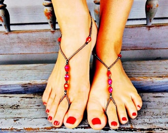 Holiday Sparkle Barefoot Sandals