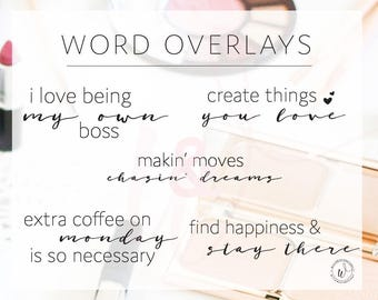 Word Overlays, Social Media, Social Media Marketing, Branding, Social Media Content, INSTANT DOWNLOAD