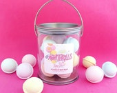 Bath Bombs-Our most popular bath bombs mini style! Each pail includes 10 bath bombs infused with essential oils! Great Party Favor or Gift!