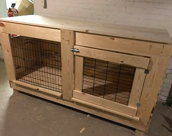 Custom large dog crate