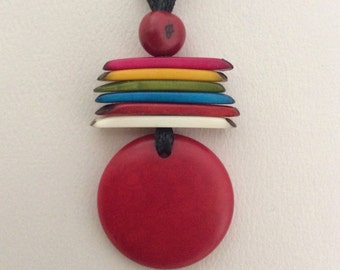Tagua Necklace, Ecofriendly Necklace, Tagua Nut Necklace, Pendant Necklace, Handmade Necklace, Gifts for Mom, Gifts for Her