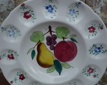 Deviled Egg Platter, Tray, Pear, Apple,and Grapes